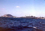 LSDs and other amphibious ships off Iwo Jima, circa late Feb 1945
