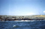 LCMs and LVTs off Blue Beach, Iwo Jima, 19 Feb 1945