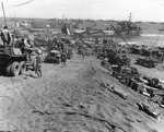 Vehicles on Iwo Jima