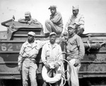 The sextet of US Army African-American soldiers who risked their lives to save a near-drowning US Marine at Iwo Jima, 11 Mar 1945