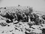 Men of 3rd Battalion, US 23rd Marine Regiment at a destroyed Japanese pillbox, Iwo Jima, Japan, Feb 1945