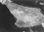Aerial view of Iwo Jima, Japan, 1945