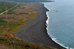 Beach used by the US invasion, Iwo Jima, Japan, 21 Mar 2015
