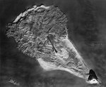 Relief Map of Iwo Jima used to brief US carrier pilots; this photo was filed 6 Apr 1945