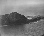 Eastern side of Mount Suribachi prior to US invasion, Iwo Jima, early 1945