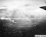The first wave of landing craft at Iwo Jima, 19 Feb 1945, photo 3 of 6