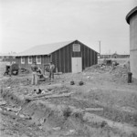 Building of water facilities at Jerome War Relocation Center, Arkansas, United States, 16 Nov 1942
