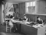 Workers at the Communique Office at Jerome War Relocation Center, Arkansas, United States, 16 Nov 1942