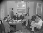 Paul Taylor and the rest of the Jerome War Relocation Center administration, Arkansas, United States, 18 Nov 1942, photo 1 of 2