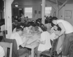 Workers at the Welfare Department of Jerome War Relocation Center, Arkansas, United States, 18 Nov 1942