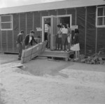 Medical and optometry building, Jerome War Relocation Center, Arkansas, United States, 17 Nov 1942