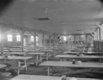 Mess hall of Block 7 of Jerome War Relocation Center, Arkansas, United States, 16 Nov 1942