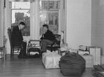 Two Japanese-Americans playing a game of Go while awaiting relocation, San Francisco, California, United States, early 1942