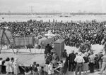 Funeral of James Wakasa at the Topaz Relocation Center, Utah, United States, 19 Apr 1943; Wakasa was killed by a military policeman guarding the camp fence