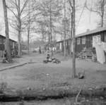 View of Block 7 in Jerome War Relocation Center, Arkansas, United States, 16 Nov 1942