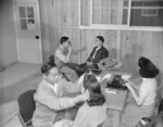 Optometry clinic at Jerome War Relocation Center, Arkansas, United States, 17 Nov 1942