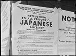 Exclusion Order posted to direct Japanese-Americans living in the first San Francisco section to evacuate, California, United States, 11 Apr 1942