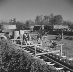 Construction of the sewage disposal plant at Jerome War Relocation Center, Arkansas, United States, 14 Nov 1942, photo 1 of 5