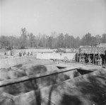 Construction of the sewage disposal plant at Jerome War Relocation Center, Arkansas, United States, 14 Nov 1942, photo 4 of 5