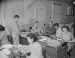 D. J. Hudson, Steward, R. R. Richmond, and other workers of the Mess Section of Jerome War Relocation Center, Arkansas, United States, 19 Nov 1942