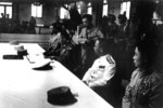 Chinese General He Yingqin signing the Japanese surrender document at the Chinese Military Academy in Nanjing, China, 9 Sep 1945, photo 2 of 2