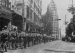 Troops of Nationalist Chinese New 1st Army marching into Guangzhou, Guangdong Province, China, 16 Sep 1945