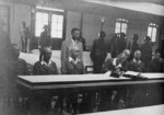 Yasuji Okamura signing the surrender document, Nanjing, China, 9 Sep 1945, photo 2 of 2