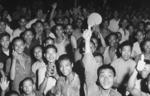 Crowd in Chongqing, China celebrating the victory over Japan, 15 Aug 1945
