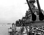 The Japanese delegation arriving aboard USS Missouri, Tokyo Bay, Japan, Photo 1 of 7