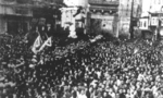 Crowd in Shanghai, China celebrating the victory over Japan, 15 Aug 1945