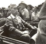 Lieutenant General Masao Baba en route to the official surrender ceremony, Labuan, Borneo, 10 Sep 1945, photo 1 of 3
