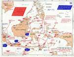 Map showing Japanese offensives in the Dutch East Indies, Dec 1941-Apr 1942