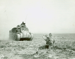 An American M3 Grant tank near Kasserine Pass in Tunisia, late Feb 1943