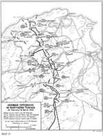 Map depicting German follow-up actions in northwestern Tunisia after Battle of Kasserine Pass, 26 Feb-15 Mar 1943