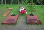 Symbolic graves of generals Bronislaw Bohatyrewicz and Mieczyslaw Smorawinski at Katyn today