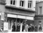 Destroyed Jewish shop in Magdeburg, Germany, 9 Nov 1938, photo 2 of 7