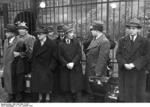 Polish-German Jews being gathered for deportation, Nürnberg, Germany, 28 Oct 1938, photo 1 of 3
