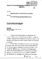 Telegram from Reinhard Heydrich coordinating SD involvement in Kristallnacht, 10 Nov 1938, page 1 of 4