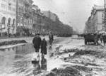 View of Nevsky Avenue, Leningrad, Russia, 1 Apr 1942