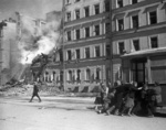 Leningrad after a German air raid, Russia, 1 Jan 1942