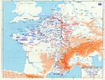 Map depicting the Allied campaign toward Germany, 26 Aug-14 Sep 1944