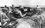 Chinese ZB vz. 26 machine gun crew at Lugou Bridge, Beiping, China, Jul 1937