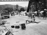 UK Royal Engineers preparing to blow up a bridge in Malaya during the retreat to Singapore, Dec 1941
