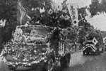 Celebration in Guangzhou, Guandong Province, China over the Japanese victory in Singapore, circa 16 Feb 1942, photo 2 of 3