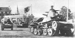 Japanese Type 95 Ha-Go tanks parading through Singapore, Feb 1942