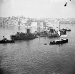 Oil tanker Ohio in the Grand Harbour of Malta, 15 Aug 1942