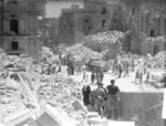 Heavily bombed Kingsway (now Republic Street), Valletta, Malta, Apr 1942