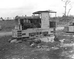 Japanese narrow gauge railroad locomotive at the Orote Peninsula Airfield, Guam, Mariana Islands, 5 Oct 1944