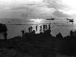 Americans landing on Tinian, Mariana Islands, late Jul 1944