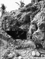 This 75mm Japanese gun position at Gaan Point wreaked havoc on men of the US 22nd Marine Regiment before it was silenced, Guam, Mariana Islands, Jul-Aug 1944